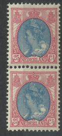 Nvph  71 25ct Koningin Wilhelmina Bontkraag in paar Postfris (1)
