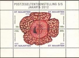 Sint Maarten  85 Blok Postzegeltent. Jakarta 2012 Postfris