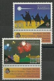 Nederlandse Antillen 1111/1112 Kerst 1995 Postfris