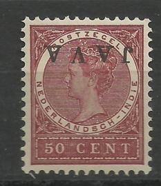 Nederlands Indië  78f 50ct Overdruk Java Kopstaand Postfris (3)