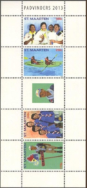 Sint Maarten 164/167 Scouting 2013 Postfris