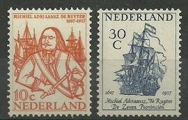 Nvph 693/694 De Ruyter Postfris