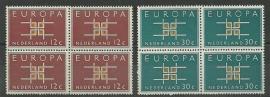 Nvph 800/801 Europa 1963 in Blokken Postfris