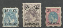 Curacao  26/28 Frankeerzegels Nederland met Overdruk Ongebruikt (1)