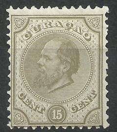 Curacao   6D 12½ × 12  15 ct Willem III Ongebruikt (1)