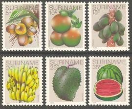 Suriname Republiek 140/145 Surinaamse Vruchten 1978 Postfris