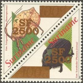 Suriname Republiek 1177/1178 Insekten Hulpuitgifte 2002 Postfris