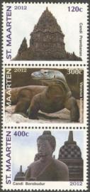 Sint Maarten  82/84 Postzegeltent. Jakarta 2012 Postfris