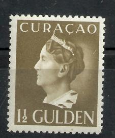 Curacao 151 1½ gld Wilhelmina Konijnenburg Ongebruikt (1)