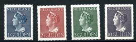 Nvph 346/349 Hoge Waarden Konijnenburg Postfris + Certificaat ( 9)