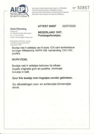 PZ 45 4 × 6 (Nvph 336) Roomkleurige Kaft + Certificaat (1)