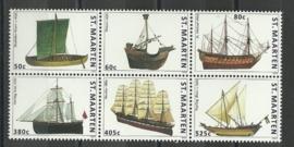 Sint Maarten  47/52 Schepen Postfris