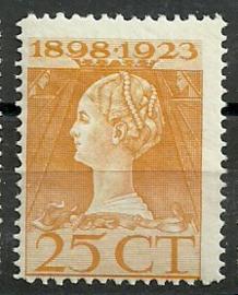 Nvph 126H (11½×12½) 25 ct Jubileum 1923 Postfris (4)