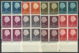 Nieuw Guinea 30/37 Koningin Juliana Postfris (Randblokken van 4, onder)