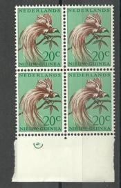 Nederlands Nieuw Guinea 29 PM1 in blok Postfris