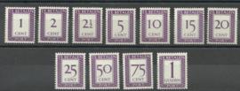 Suriname P 36/46 Cijfer en Waarde in rechthoek Postfris (2)