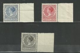 Nvph 163/165A Veth Hoge Waarden Postfris (2) + Certificaat