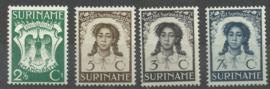 Suriname 183/186 Emancipatiezegels Postfris