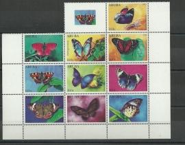 Aruba 574/583 Vlinders 2011 Postfris