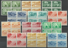 Suriname LP35/LP46  in blokken van 4 Postfris