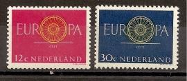 Nvph  745/746 Europa 1960 Postfris
