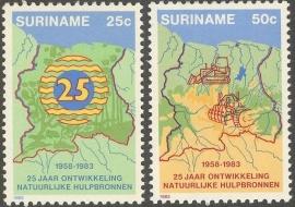 Suriname Republiek 354/355 Natuurlijke Bronnen 1983 Postfris
