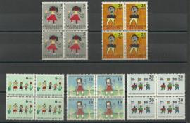 Nederlandse Antillen 338/342 in blokken van 4 Postfris