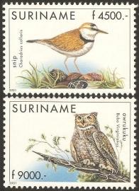 Suriname Republiek 1116/1117 Vogels 2001 Postfris