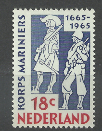Nvph 855 300 jaar Korps Mariniers Postfris (aan beeldzijde gegomd)