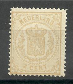 Nvph  17D 2 ct (13¼×13¼)  Wapenzegel 1869/1871 Postfris + Certificaat