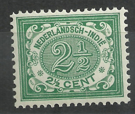 Nederlands Indië  43 2½ct Cijferzegel 1902/1909 Postfris (2)