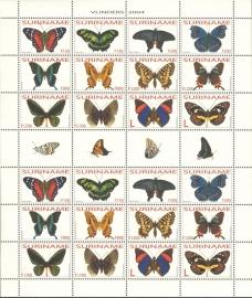 Suriname Republiek 1227/1238 Vlinders 2004 Postfris (Compleet Vel)