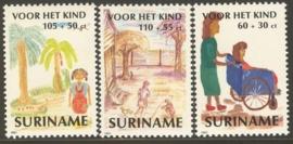 Suriname Republiek  717/719 Kinderzegels 1991 Postfris