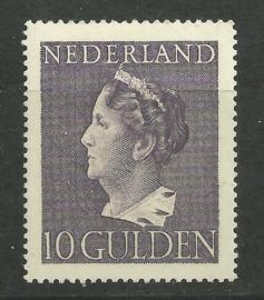 Nvph 349 10 Gulden Konijnenburg Postfris