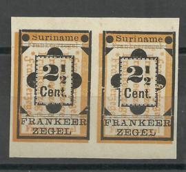 Suriname  22ava + 22v  in ongetand paar Ongebruikt (1)
