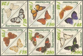 Suriname Republiek  808/819 Surinaamse Vlinders 1994 Postfris