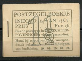 PZ 22d-N 4 × 6 (Nvph 172B) Roomkleurige Kaft + Befund (1)