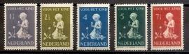 Nvph 374/378 Kinderzegels 1940 Ongebruikt
