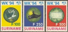 Suriname Republiek  803/805 WK Voetbal 1994 Postfris