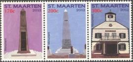 Sint Maarten  79/81 Monumenten 2012 Postfris
