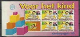 Nederlandse Antillen 1042 Blok Kinderzegels 1993 Postfris