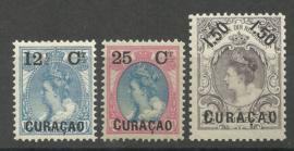 Curacao  26/28 Frankeerzegels Nederland met Overdruk Postfris (1)