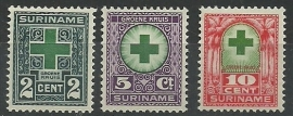 Suriname 127/129 Groene Kruiszegels Postfris