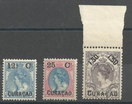 Curacao  26/28 Frankeerzegels Nederland met Overdruk Postfris (3)