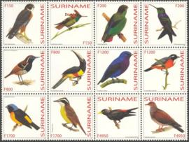 Suriname Republiek 1181/1192 Vogels 2003 Postfris
