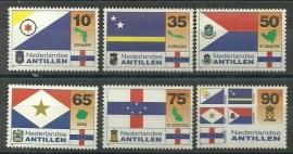 Nederlandse Antillen 1089/1094 Vlaggen Postfris