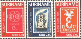 Suriname Republiek 1358/1360 50 Jaar Europazegels 2006 Postfris