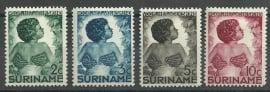 Suriname 179/182 Kinderzegels 1936 Ongebruikt