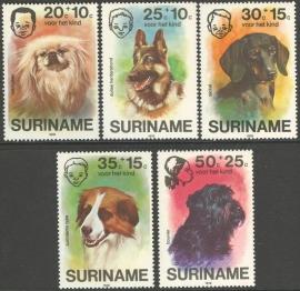 Suriname Republiek  43/47 Kinderzegels 1976 Postfris
