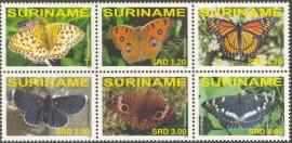 Suriname Republiek 1431/1436 Vlinders 2007 Postfris